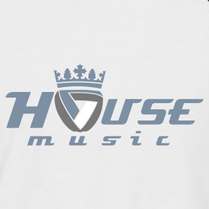 White/navy Royal House Music  Men's T-Shirts - Men's Baseball T-Shirt