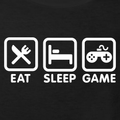 Black Eat sleep game Kids' Shirts
