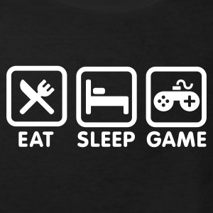 Black Eat sleep game Kids' Shirts - Kids' Organic T-shirt