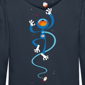 Navy space monkey Hoodies & Sweatshirts - Men's Premium Hoodie
