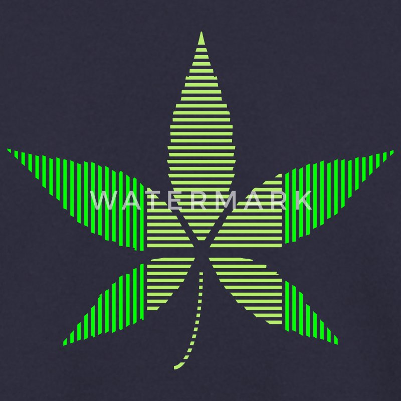 Navy Hemp - Cannabis leaf in stripes Hoodies & Sweatshirts - Men's Sweatshirt