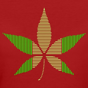 Purple Hemp - Cannabis leaf in stripes Women's T-Shirts - Women's Organic T-shirt
