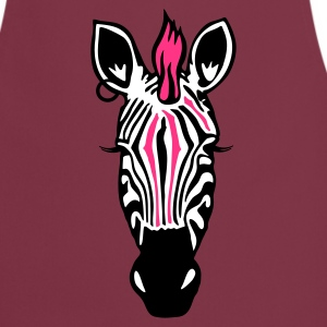 Bordeaux Zebra Punk with an earring  Aprons - Cooking Apron