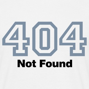 Weiß Error 404 © T-Shirts - Men's T-Shirt
