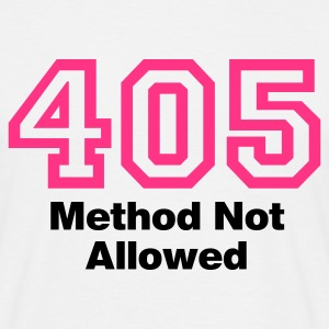 Weiß Error 405 © T-Shirts - T-skjorte for menn