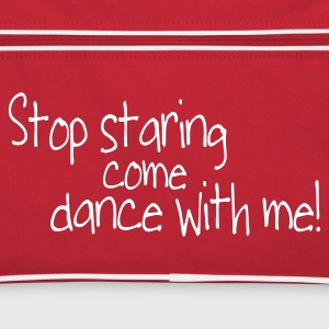 Rood/wit stop staring and come dance with me Tassen - Retro-tas