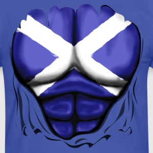 Scotland Flag Ripped Muscles, six pack, chest t-sh - Men's Ringer Shirt
