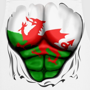 Wales Flag Ripped Muscles, six pack, chest apron - Cooking Apron