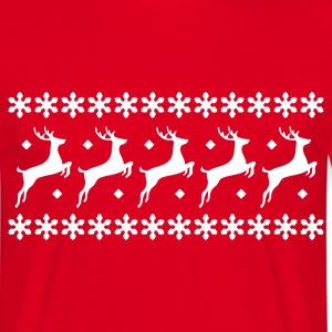 Red XMas Pullover Reindeer Men's T-Shirts - Men's T-Shirt