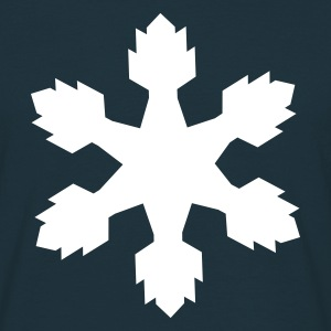 Navy Snow flake Men's T-Shirts - Men's T-Shirt