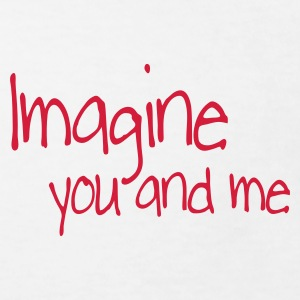 Wit imagine you and me Kinder shirts - Kinderen Bio-T-shirt