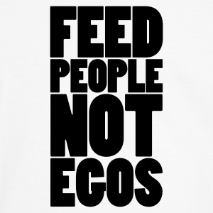 Vit/svart feed people not egos T-shirts - Kontrast-T-shirt herr