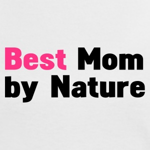 Vit/svart mors dag best mom by nature T-shirts - Kontrast-T-shirt dam