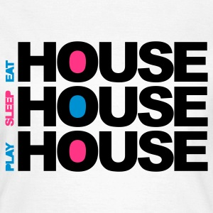 Blanc Eat Sleep Play House T-shirts - T-shirt Femme