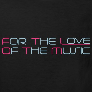 Black For The Love of The Music Kids' Shirts - Kids' Organic T-shirt