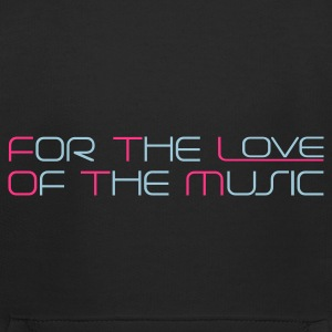 Blu scuro For The Love of The Music Pullover bambini - Felpa con cappuccio Premium per bambini