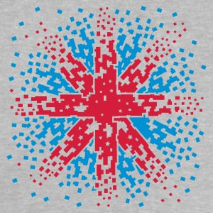 Grau meliert England Flagge -  Union Jack  Pixel Look Baby T-Shirts - Baby T-Shirt