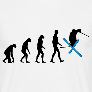 White Evolution Ski Men's T-Shirts - Men's T-Shirt