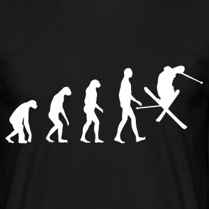 Black Evolution Ski Men's T-Shirts - Men's T-Shirt