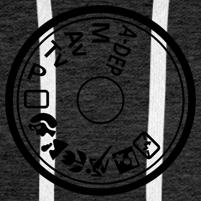 Kapuzenpullover für Männer. Programmwahlrad