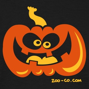 Black Smiling Pumpkin Men's T-Shirts - Men's T-Shirt
