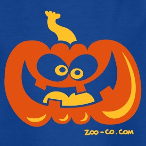 Royal blue Smiling Pumpkin Kids' Shirts - Teenage T-shirt