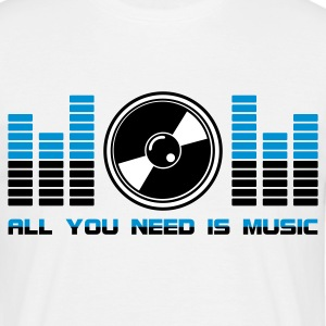 All You Need Is Music White - T-shirt Homme