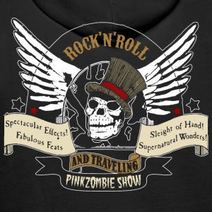 rock'n'roll tete de mort Sweat-shirts - Sweat-shirt à capuche Premium pour hommes