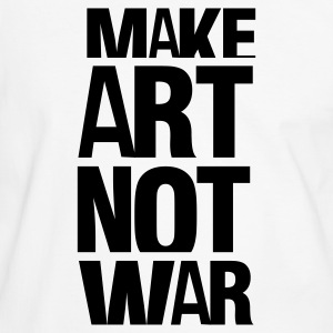 Hvit/svart make art not war T-skjorter - Kontrast-T-skjorte for menn