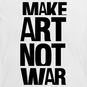 Hvit/svart make art not war T-skjorter - Kontrast-T-skjorte for kvinner