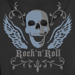 rock_n_roll_skull_2c Hoodies & Sweatshirts - Men's Premium Hooded Jacket