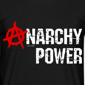 Noir Anarchy power T-shirts - T-shirt Homme