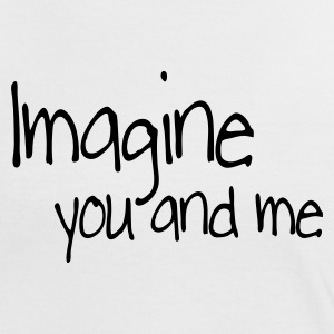 Wit/rood imagine you and me T-shirts - Vrouwen contrastshirt