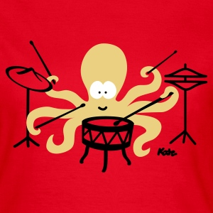Red Octopus (c2) Women's T-Shirts - Women's T-Shirt