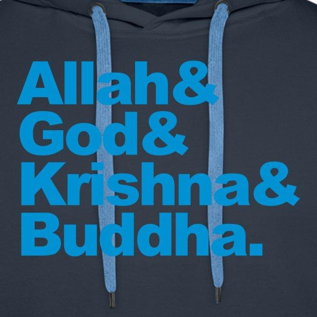 God Allah Krishna & Buddha man hoody capuchontrui