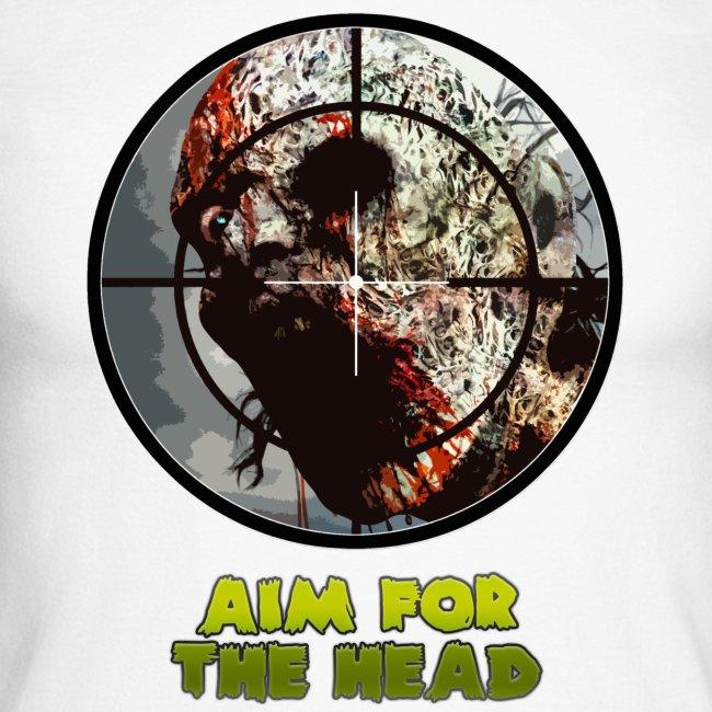 Aim For The Head. Mens Raglan Long Sleeve Tee