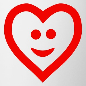 Vit Heart with smile Muggar - Mugg