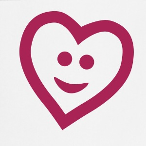 Blanco Heart with smile Delantales - Delantal de cocina