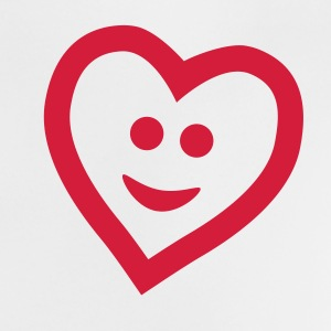 Vit Heart with smile Babytröjor - Baby-T-shirt