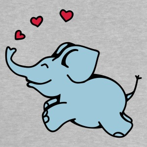 Heather grey Elefant Kærlighed Baby T-shirts - Baby T-shirt