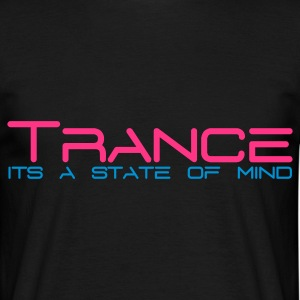 Black Trance State of Mind Men's T-Shirts - Men's T-Shirt