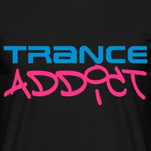 Black Trance Addict Men's T-Shirts - Men's T-Shirt