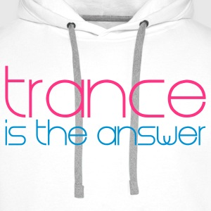 Bianco Trance is the Answer Pullover - Felpa con cappuccio premium da uomo