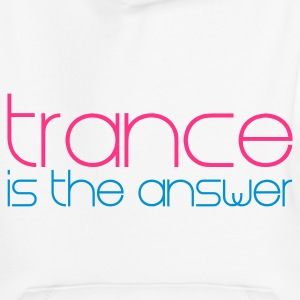 White Trance is the Answer Kids' Tops - Kids' Premium Hoodie