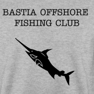 Motif ~ sweatshirt noir Bastia Offshore Fishing