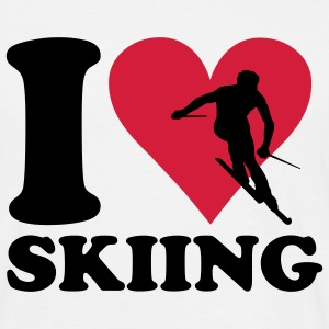 White I love Skiing - Ski Men's T-Shirts - Men's T-Shirt