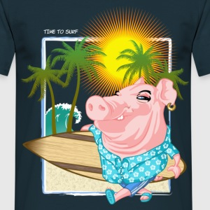 Pig go surfing - T-shirt Homme