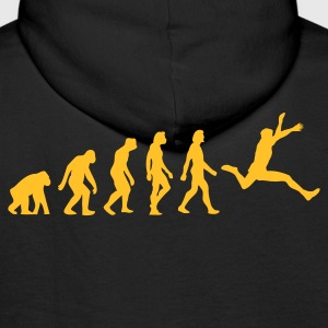 Black Evolution of Jumping (1c) Hoodies & Sweatshirts - Men's Premium Hoodie