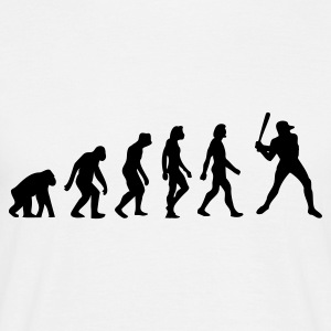 Wit Evolution of Baseball (1c) T-shirts - Mannen T-shirt