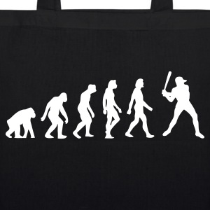 Black Evolution of Baseball (1c) Bags  - EarthPositive Tote Bag